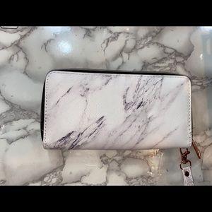 Marble long wallet